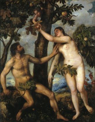 Titian: Adam och Eva.